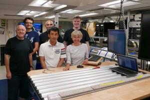 第362次航海の6名の堆積学者と記載テーブル