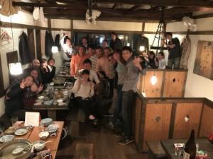 陸上チームの活動を終えて開催されたパーティの様子