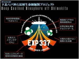 IODP第337次研究航海「下北八戸沖石炭層生命圏掘削調査」の航海ロゴ